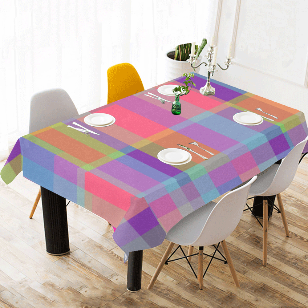 "zappwaits - your 6 Cotton Linen Tablecloth 60""x120"""
