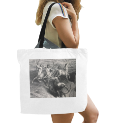 war All Over Print Canvas Tote Bag/Large (Model 1699)