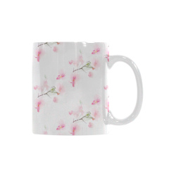 Pattern Orchidées White Mug(11OZ)