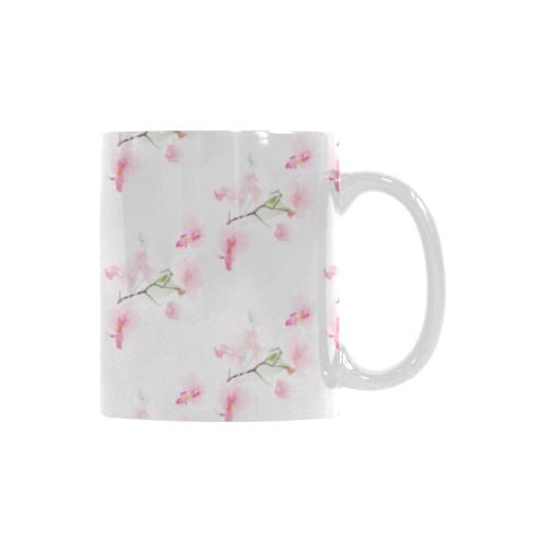 Pattern Orchidées White Mug(11OZ)