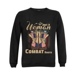 Just A Woman Who More Combat Boots Gildan Crewneck Sweatshirt(NEW) (Model H01)
