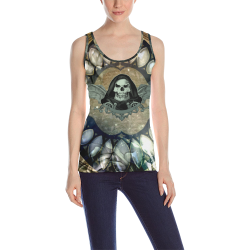Awesome scary skull All Over Print Tank Top for Women (Model T43)
