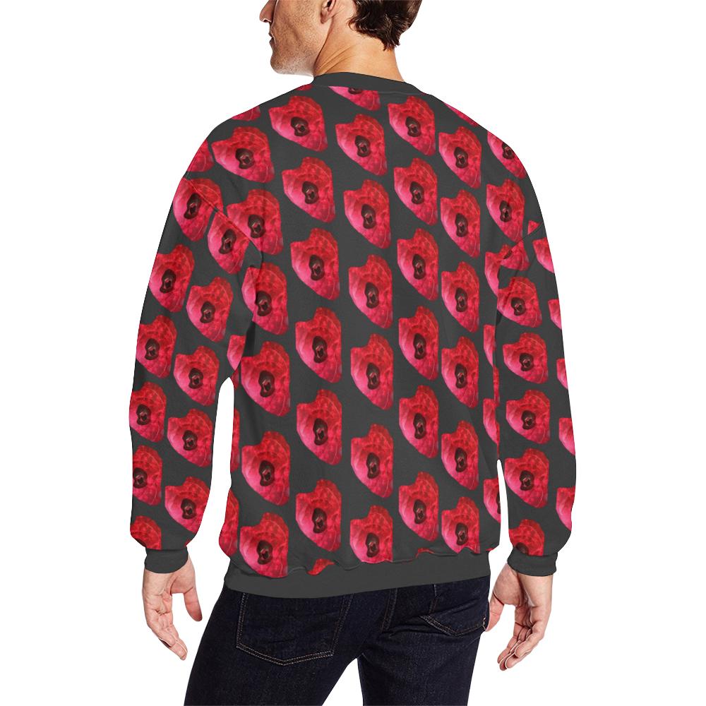 wonky pattern Men's Oversized Fleece Crew Sweatshirt (Model H18)