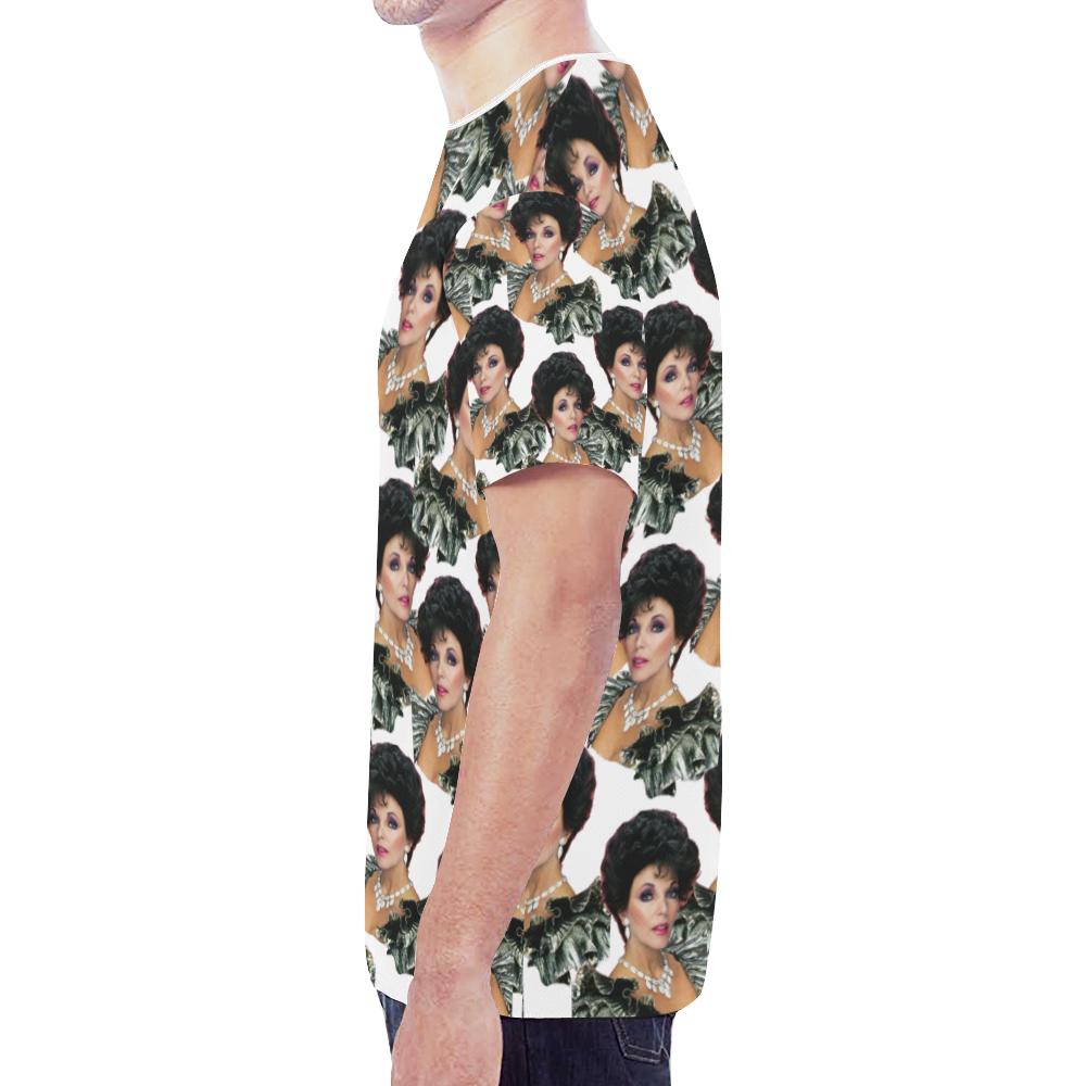 joan x 4 dbl New All Over Print T-shirt for Men (Model T45)