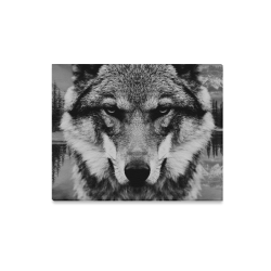 "Wolf Animal Nature Canvas Print 20""x16"""