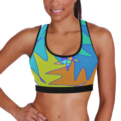 Abstract Design 2020 Women's All Over Print Sports Bra (Model T52)