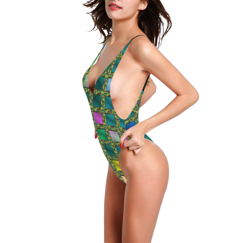 MILITARY ART Sexy Low Back One-Piece Swimsuit (Model S09)