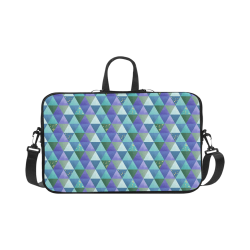 Triangle Pattern - Blue Violet Teal Green Macbook Pro 17""