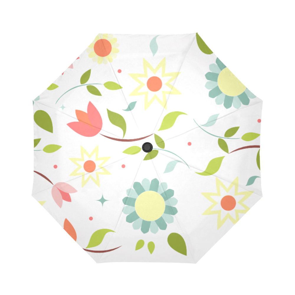 Flowers Auto-Foldable Umbrella (Model U04)