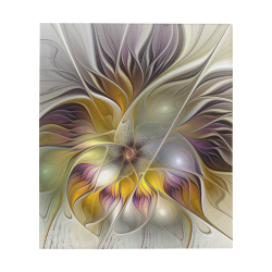 """Abstract Colorful Fantasy Flower Modern Fractal Art Quilt 60""""x70"""""""
