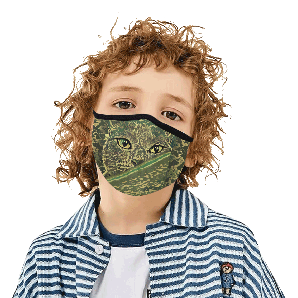 CAT CAMOUFLAGE 3D MASK Mouth Mask in One Piece (2 Filters Included) (Model M02)