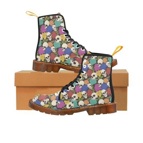 Skulls and Roses Martins Martin Boots For Women Model 1203H