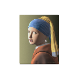 """Girl with a pearl earring 3d Canvas Print 16""""x20"""""""