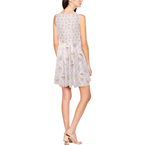 Cupcakes Thea Sleeveless Skater Dress(Model D19)