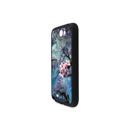 Cherry blossomL Rubber Case for Samsung Galaxy Note 2