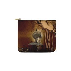 Mechanical skull Carry-All Pouch 6''x5''