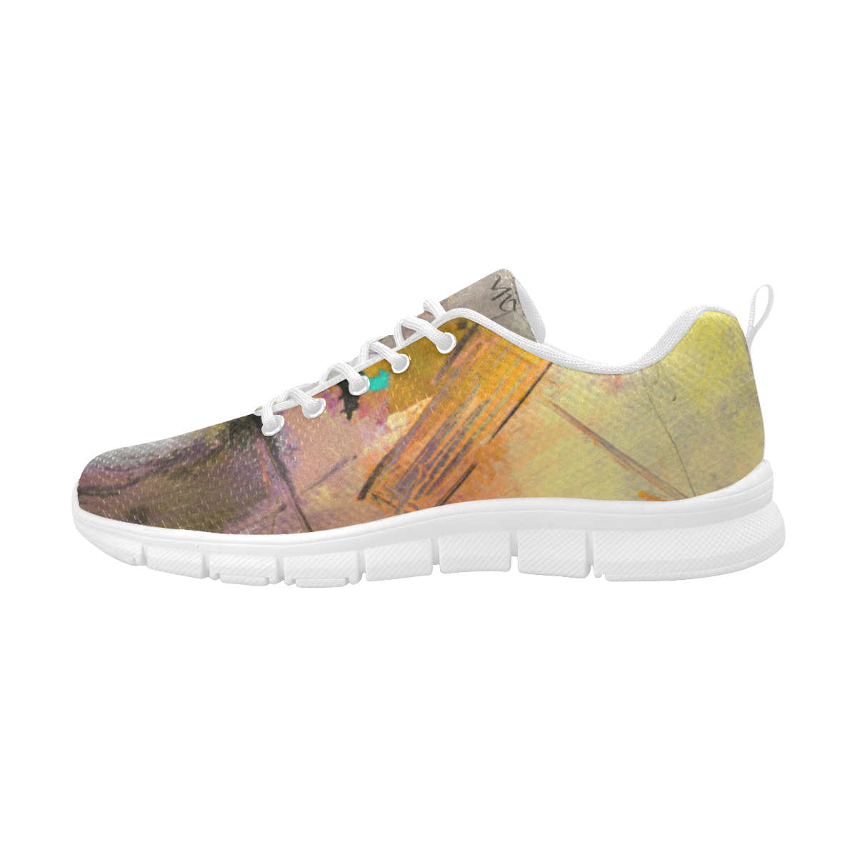 Lua yellow Women's Breathable Running Shoes (Model 055)