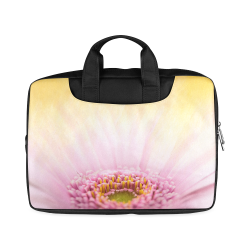 "Gerbera Daisy - Pink Flower on Watercolor Yellow Macbook Air 11""(Twin sides)"