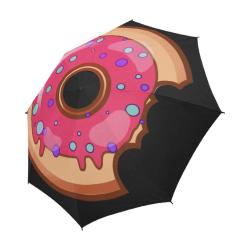 Funny Yummy Donut With A Bite Semi-Automatic Foldable Umbrella (Model U05)