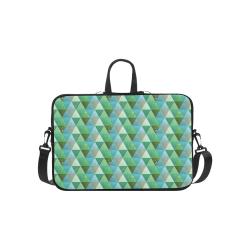 Triangle Pattern - Green Teal Khaki Moss Macbook Pro 15''