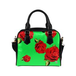 Fairlings Delight's Floral Luxury Collection- Red Rose Shoulder Handbag 53086h15 Shoulder Handbag (Model 1634)