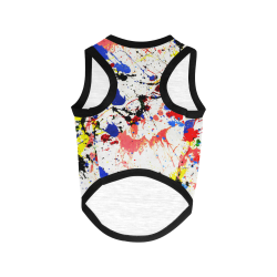 Blue and Red Paint Splatter All Over Print Pet Tank Top