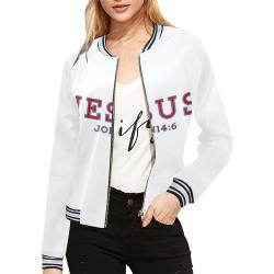 Jesus-john-1.2-23 All Over Print Bomber Jacket for Women (Model H21)