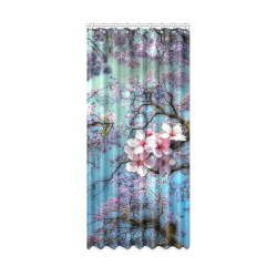 "Cherry blossomL Window Curtain 50"" x 108""(One Piece)"