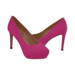 Peacock Pink Women's High Heels (Model 044)