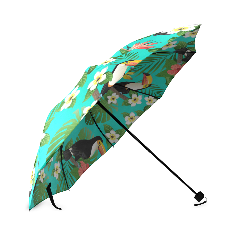 Tropical Summer Toucan Pattern Foldable Umbrella (Model U01)