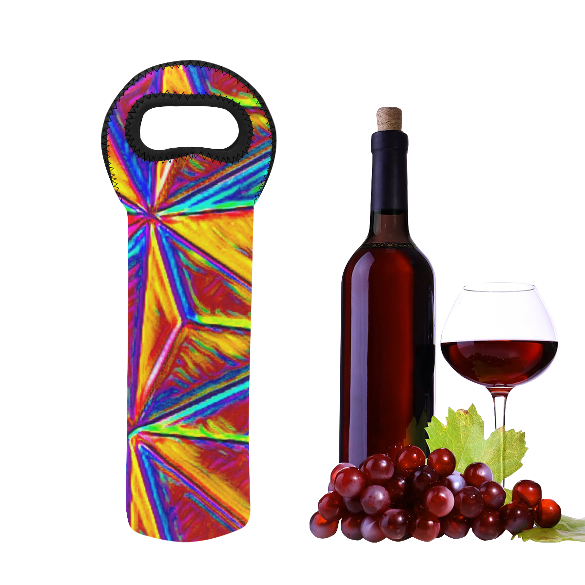 Vivid Life  by JamColors Neoprene Wine Bag