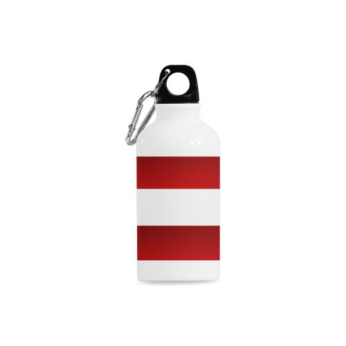 Red White Stripes Cazorla Sports Bottle(13.5OZ)