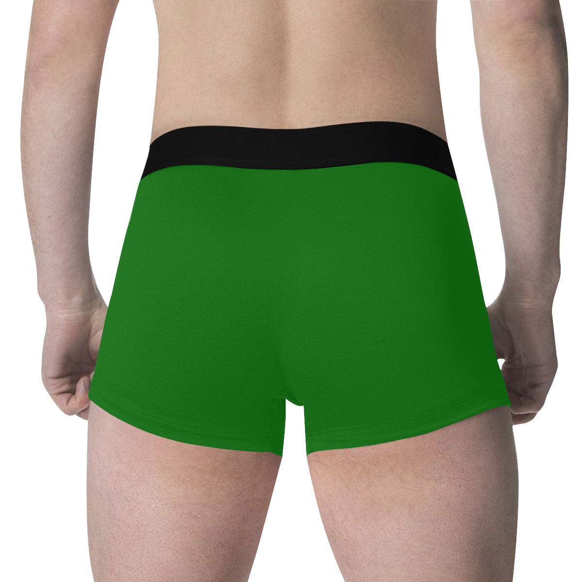 color dark green Men's All Over Print Boxer Briefs (Model L34)