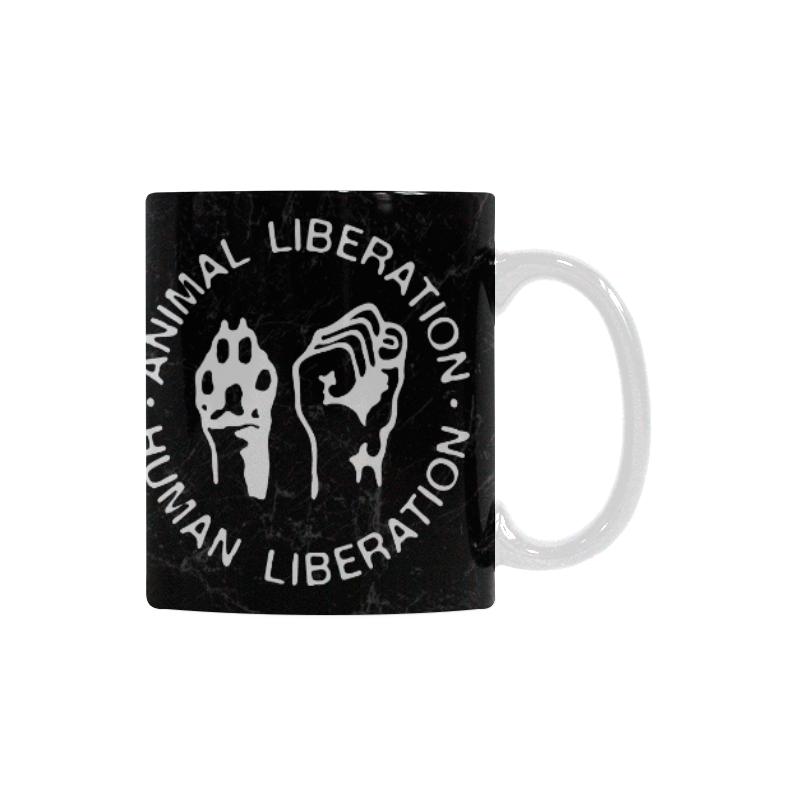 Animal Liberation, Human Liberation White Mug(11OZ)