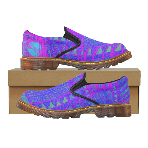 079-BigPink Martin Women's Slip-On Loafer (Model 12031)