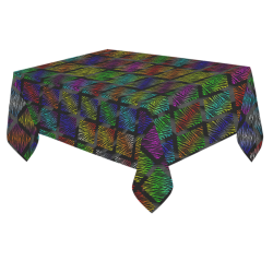 """Ripped SpaceTime Stripes Collection Cotton Linen Tablecloth 60""""x 84"""""""