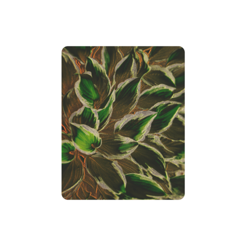 leafs_abstract Rectangle Mousepad