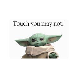 "Baby Yoda No Touch Doormat 24""x16"""
