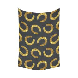 "Golden horseshoe Cotton Linen Wall Tapestry 60""x 90"""