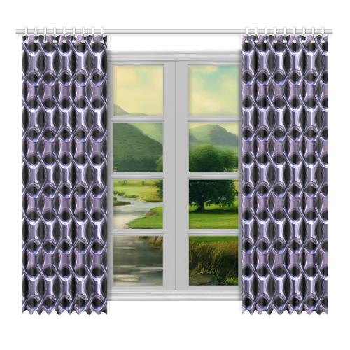 """Shiny metal braid Window Curtain 52""""x96""""(Two Piece)"""