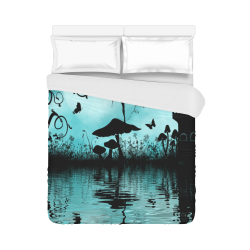 "Dancing in the night Duvet Cover 86""x70"" ( All-over-print)"