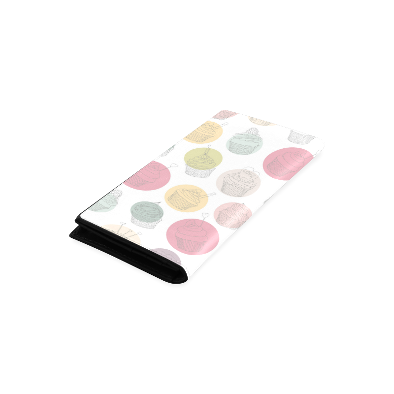 Colorful Cupcakes Women's Leather Wallet (Model 1611)