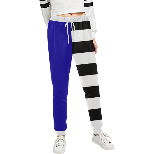 Blue and Stripes Mixed Print Unisex All Over Print Sweatpants (Model L11)