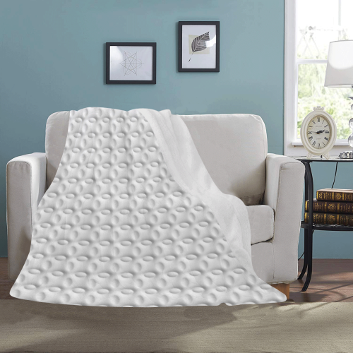 White ellipses embossed abstract Ultra-Soft Micro Fleece Blanket 43''x56''