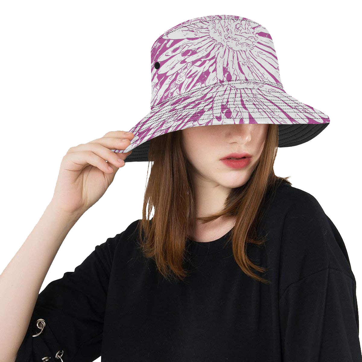 PINK FLOWER LADYLIKE All Over Print Bucket Hat
