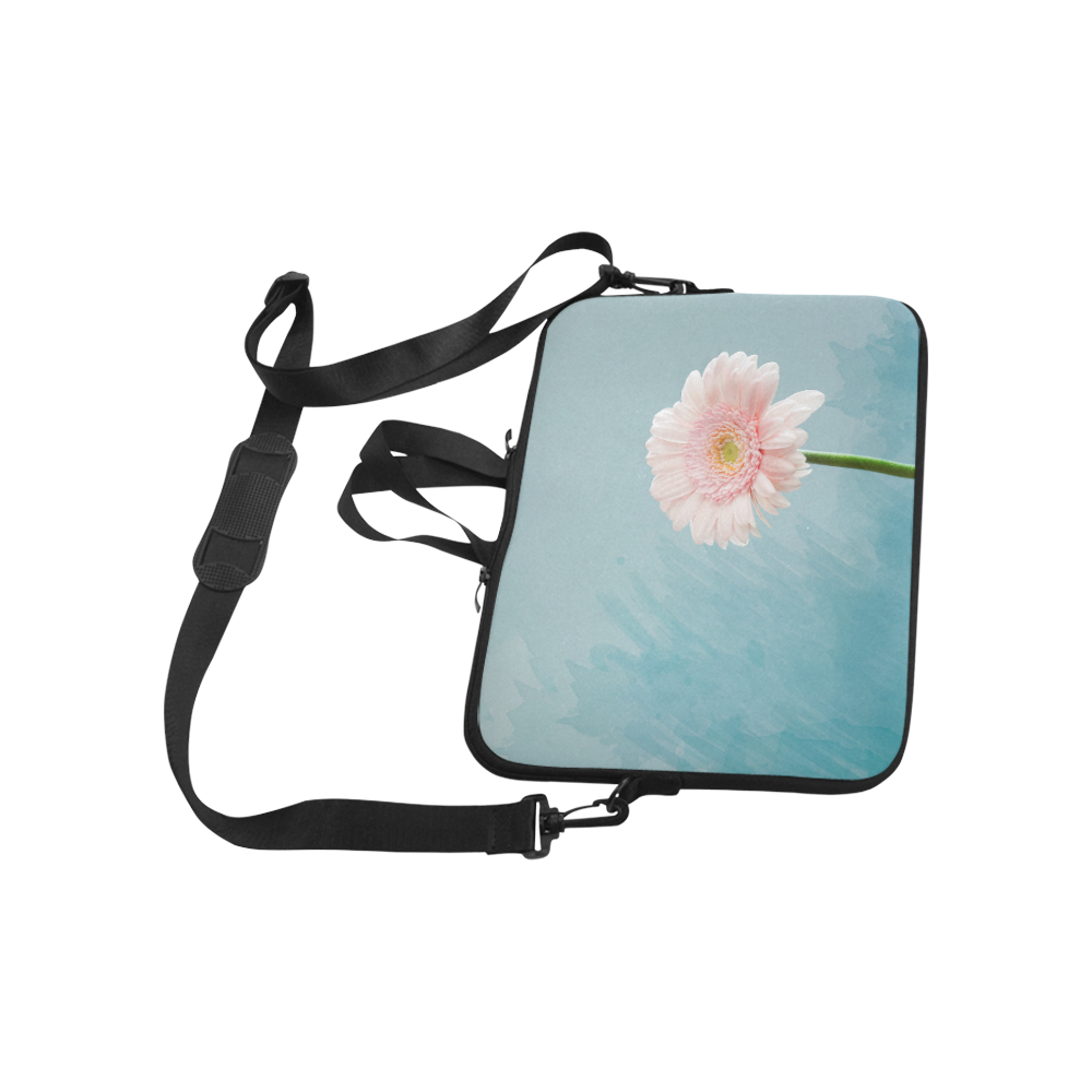 Gerbera Daisy - Pink Flower on Watercolor Blue Macbook Air 11''