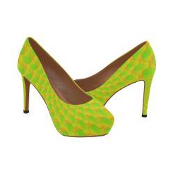 Green net Women's High Heels (Model 044)