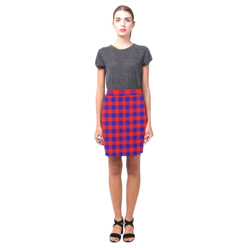 Red and Blue Checkered Nemesis Skirt (Model D02)