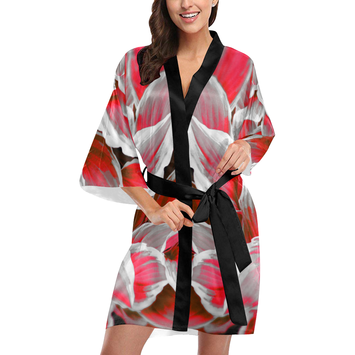 leafs_abstract 09 Kimono Robe