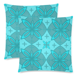 """portuguese ornament   azulejos Custom Zippered Pillow Cases 18""""x 18"""" (Twin Sides) (Set of 2)"""